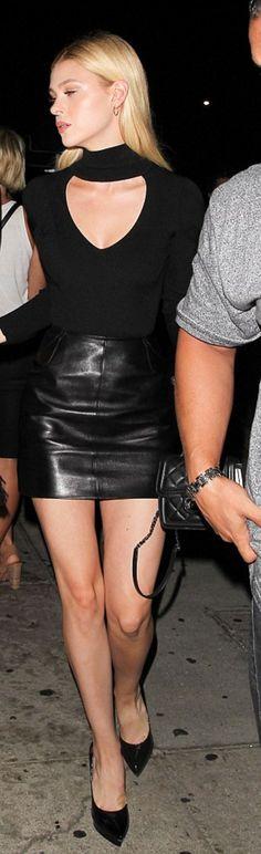 Nicola Peltz: Shirt – Cushnie et Ochs  Purse – Chanel  Shoes – Saint Laurent