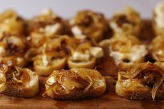 Caramelized Onion Crostini Recipe- perfect appetizer to start any party!