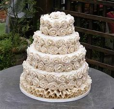 Image Search Results for buttercream roses wedding cake