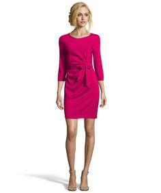 af5727368e99 Diane Von Furstenberg Raspberry Silk  zoe  Faux Wrap Dress Best Designer  Brands