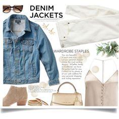 Wardrobe Staple: Denim Jackets by mrsjillc on Polyvore featuring Miss Selfridge, Lucky Brand, J.Crew, Joie, MICHAEL Michael Kors, Nest,…