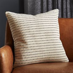 Shop Clique Black and White Pillow with Down-Alternative Insert. Strong black stitching leaves its mark across soft, solid natural cotton. Nap- and display-worthy pillow is reversible, with pattern on both sides. Black And White Pillows, Grey Pillows, Wool Pillows, Velvet Pillows, Throw Pillows, Accent Pillows, Throw Blankets, Couch Pillows, Cushions