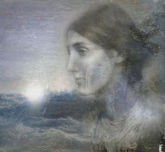 Virginia Woolf - Granite & Rainbow  by Goat of Mendez