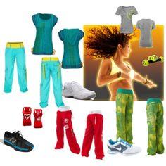 Zumba Workout!, created by #danimill on #polyvore. #fashion #style New Balance #NIKE