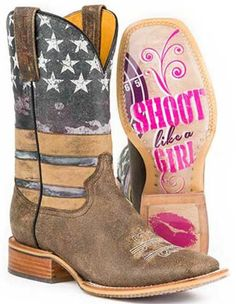 Tin Haul Women's American Woman Western Boots....gotta have these!