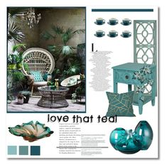 """love that teal"" by psyche8778 ❤ liked on Polyvore featuring interior, interiors, interior design, home, home decor, interior decorating, Pier 1 Imports, Price & Kensington, Torre & Tagus and Murano"