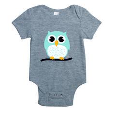 Baby rompertje - blauw - uil