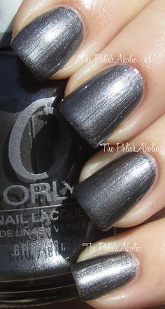 Steel Your Heart for dramatic nighttime fingers. #ORLYCoolRomance #ORLYNails