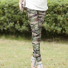 Ladies 'Green Skinny Slim Elastic Stretchy Printing Leggings – NOK kr. 37