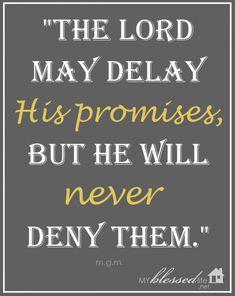 God's Promises…Never Denied