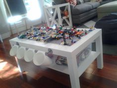 DIY Lego Table using IKEA LACK coffee table