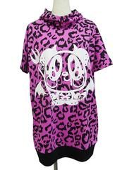 Devil Merry Leopard Pattern Half Sleeve Pull Parka Pink/ See more at http://www.cdjapan.co.jp/apparel/superlovers.html #harajuku