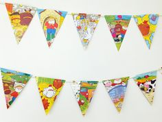 Old MacDonald Bunting, Children's bunting, Party Decor, recycled paper garland, Eco-Friendly Banner, Kid's Pennants by PeonyandThistle on Etsy https://www.etsy.com/listing/198850334/old-macdonald-bunting-childrens-bunting
