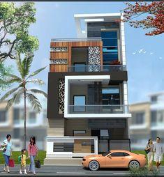Decor Ideas 2020 - Home Decor Bungalow House Design, House Front Design, Modern House Design, Facade Design, Exterior Design, Architecture Design, Building Elevation, House Elevation, Balcony Grill Design