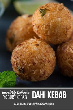 Dahi ke kabab is melt in mouth kababs from North Indian Cuisine. A veg kabab recipe which is easy and quick to prepare. Made with a base of hung curd/dahi or greek yogurt these dahi kabab are most favorite Indian party appetiser recipe at our home
