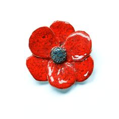 Remembrance Day Poppy Brooch