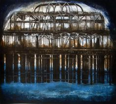 Jenny Robinson. Brighton Pier 2012. Drypoint with Monotype.