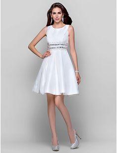 A-line Jewel Short/Mini Taffeta Cocktail Dress http://ltpi.co.nf/?item=466593