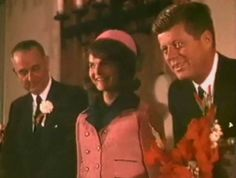 "On the morning of November 22, 1963, Mrs. Kennedy walked into the breakfast meeting a little late in Fort Worth, Texas. JFK said when Jackie arrived - ""no one wonders what Lyndon and I wear""."