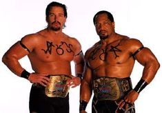 WWF Tag Team Champion The Acolytes (Bradshaw and Farooq)