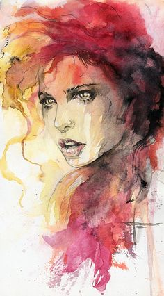 Expand Your Knowledge With Watercolor Painting Ideas I love the colours used in this painting,  Summer