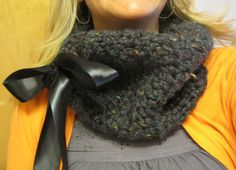 Charcoal Cowl Scarf by wynbrit on Etsy, $22.00