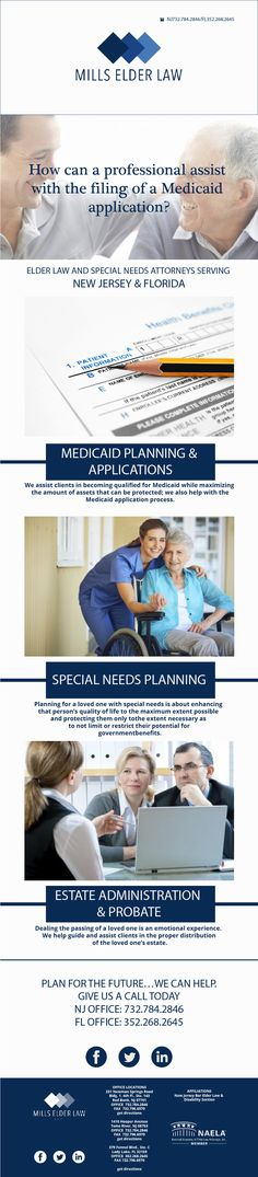Our firm Mills Elder Law is committed to educating clients about what they can and should do to prepare for long-term care and/or protect a loved one after they are gone. Often, long-term care planning is overlooked and families with a special needs dependent do not plan soon enough.