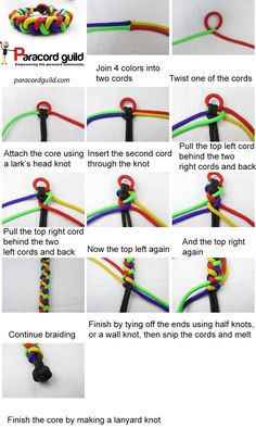 A tutorial on the round braid paracord bracelet.