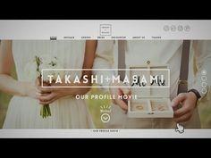 まるで、おしゃれなWEBサイトを見ているみたい♡素敵なプロフィールムービーのアイデア発見! | marry[マリー]