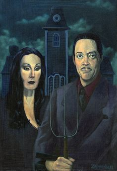 "American Gothic - Angelica and Raul ""Addams"""