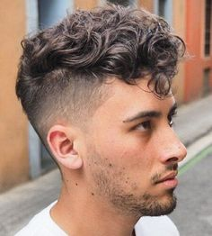 Fashionable Mens Haircuts. : Messy Curly Top