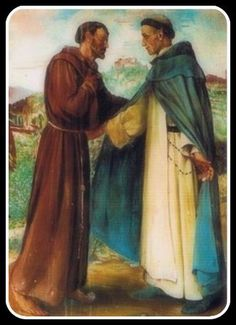 Sts Domini and Francis - 8 August – St Dominic de Guzman – Founder of the Dominican Order of Preachers – Priest, Founder, Confessor, Teacher, Preacher, Mystic, Miracle-Worker, Apostle of the Holy Rosary (1170 at Calaruega, Burgos, Old Castile – noon 6 August 1221 at Bologna, Italy).  He was Canonised on 13 July 1234 by Pope Gregory IX at Rieti, Italy