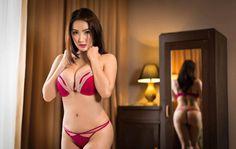 Busty Filipina beauty in a sensual red bikini with big boobs #bustypinay #sexyfilipina
