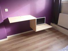 bureau met tv meubel - Google zoeken Room Stuff, Corner Desk, Flooring, Google, Furniture, Home Decor, Desk, Corner Table, Hardwood Floor