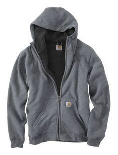 Carhartt Brushed Fleece Hooded Sweatshirts for Men - Slate Heather - 2XL