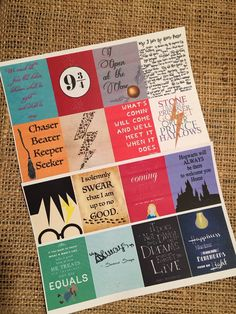 Planner Harry Potter Quote Stickers- great for all planners- Erin Condren, Emily Ley, Plum Paper, Limelife, Inkwell, Kikki K, Filofax, etc