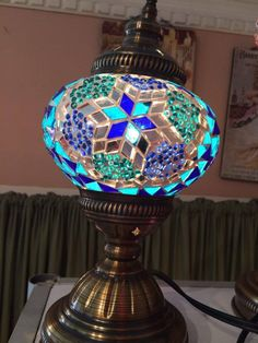 This handcrafted turkish lamp is made from hand-cut glass and is uniquely imported from Turkey. Without having to fly to thousands of miles away, rewire, or transport this beautiful piece from Instanb