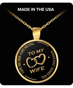 To My Beautiful Wife Pendant Funny Mugs, Funny Gifts, Beautiful Wife, Mom Birthday, Memorable Gifts, Gifts For Wife, Valentine Gifts, Baby Shower Gifts, Best Gifts