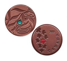 """$10.00USD JoeCacher Life 2011: Antique Copper Geocoin  In our hustle and bustle we still have time to enjoy Life in Geocaching!  Aboriginal artist Quentin Harris' original artwork . Life in it's truest form!  This coin is in Antique Copper and a unique, genuine semi-precious Turquoise gemstone!    This geocoin is trackable at http://www.geocaching.com/track/ with its own icon.    Size: 1 5/8""""(4.1cm) across x 1/8""""(3mm) thick"""