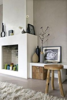 Decorate the unused fireplace in the living room - 20 creative decorating ideas Unused Fireplace, Home Fireplace, Fireplace Design, Simple Fireplace, Fireplaces, Modern Fireplace, Empty Fireplace Ideas, Candle Fireplace, Country Fireplace