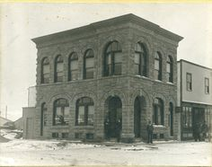 The Greene Block on the corner of Ross St and Gaetz Ave. 1904, Red Deer, AB