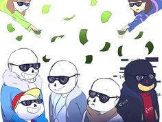 Money - undertale- Sans,Fresh,Dreamer,Ink,Error by kanokikul on ...