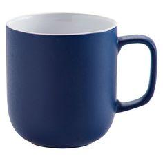 Price & Kensington Matt Navy Blue Stoneware Mug 14oz (18 SAR) ❤ liked on Polyvore featuring home, kitchen & dining, drinkware and stoneware mugs