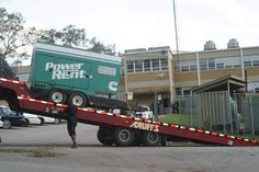 Bridge Foundation generators arrive at Harold L. Johnson Police Headquarters building, Mobile, Alabama, site of the the emergency operations center for hurricane response.