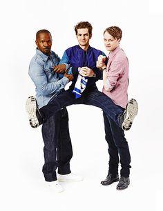 EW's Comic-Con '13 Star Portraits: Jamie Foxx, Andrew Garfield and Dane DeHaan - The Amazing Spiderman 2