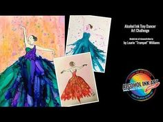 How to Paint With Alcohol Ink - Tiny Dancer Challenge - YouTube