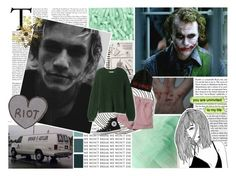 """☾-""why so serious?"" - nine year anniversary of heath ledger's death"" by nerd-ville ❤ liked on Polyvore featuring jared and Converse"