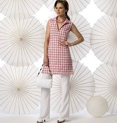 From Vogue's Summer 2014 catalog:  V9010.  Really cute, simple lines.  Yep, need to go to Joann's again.