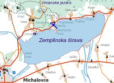zemplinska sirava | The largest lake in Slovakia.  I will be very near. I will be in Michalovce. Travel Inspiration, Relax, Map, Vacation, My Favorite Things, Places, Vacations, Location Map, Maps