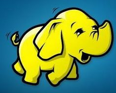Hadoop Elephant Logo on Blue Background